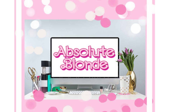 Print on Demand: Absolute Blonde Display Font By TheGGShop - Image 7