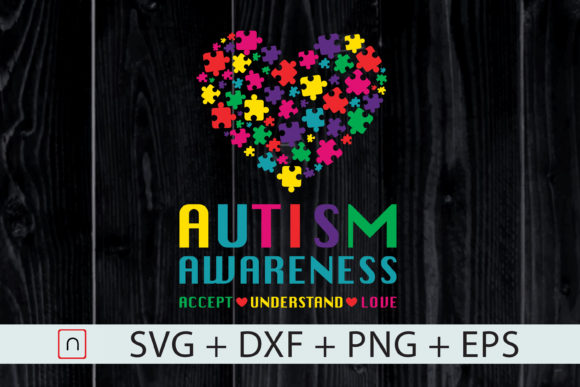 Download Free Autism Awareness Accept Understand Love Graphic By Novalia for Cricut Explore, Silhouette and other cutting machines.