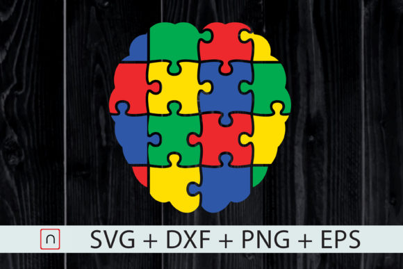 Download Free Autism Brain Puzzle Colorful Graphic By Novalia Creative Fabrica for Cricut Explore, Silhouette and other cutting machines.