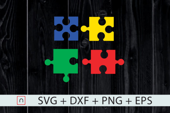 Download Free Autism Puzzle Colorful Graphic By Novalia Creative Fabrica for Cricut Explore, Silhouette and other cutting machines.