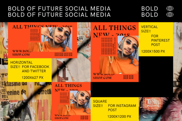 Download Free Bold Social Media Brand Templates Graphic By Invasistudio SVG Cut Files