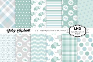Baby Elephant Nursery Patterns Graphic Patterns By LeskaHamatyDesign