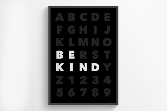 Download Free Be Kind Wall Art Printable Graphic By Handriwork Creative Fabrica for Cricut Explore, Silhouette and other cutting machines.