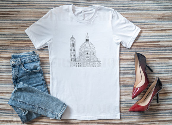 Bella Canvas T-Shirt Mockup with Heels Graphic Product Mockups By Masters of Mockups - Image 3