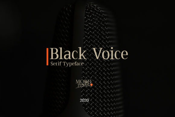 Download Free Black Voice Font By Morelgraphic Creative Fabrica for Cricut Explore, Silhouette and other cutting machines.