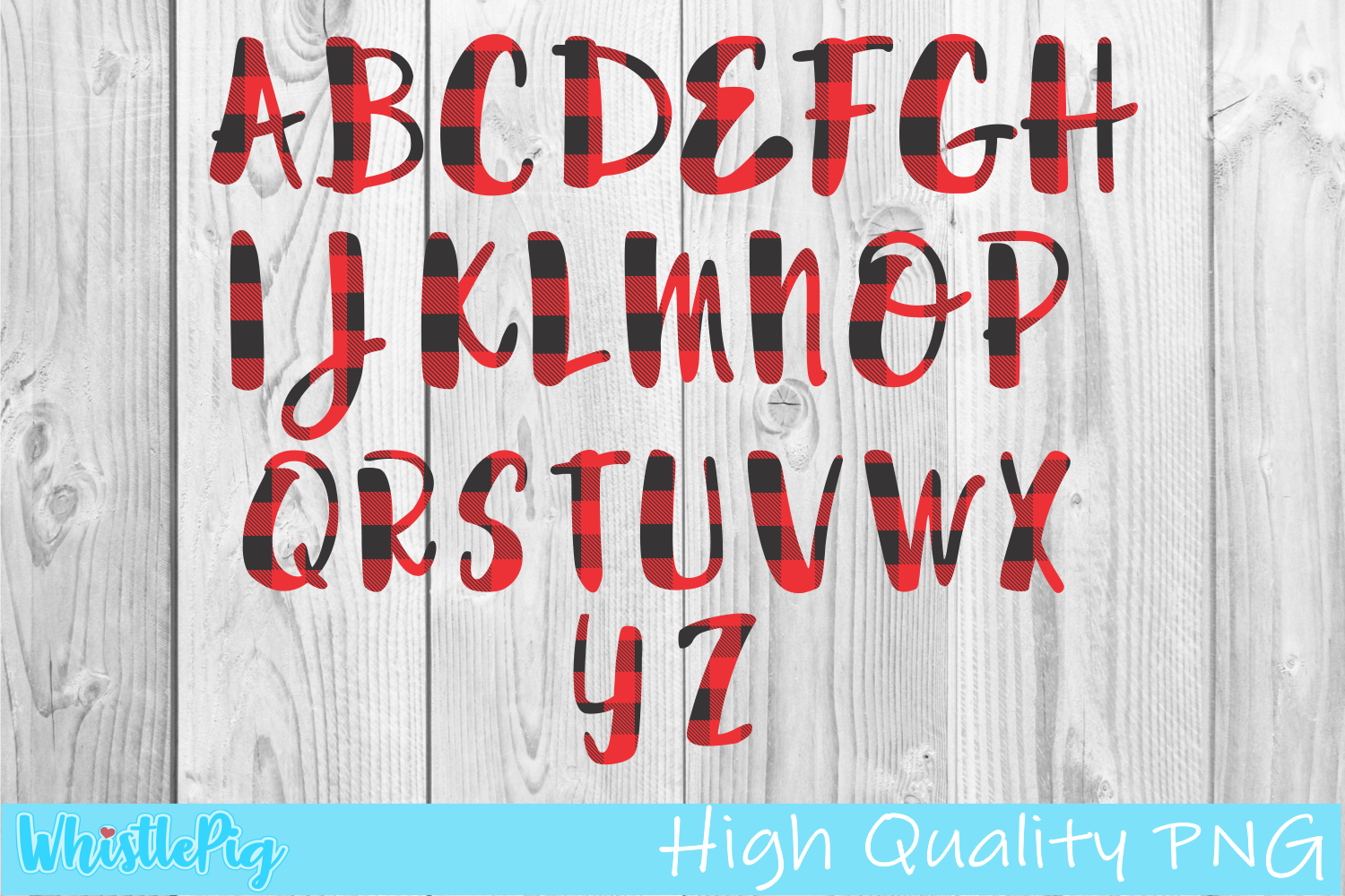 Download Free Buffalo Plaid Alphabet A Z Pattern Graphic By Whistlepig for Cricut Explore, Silhouette and other cutting machines.