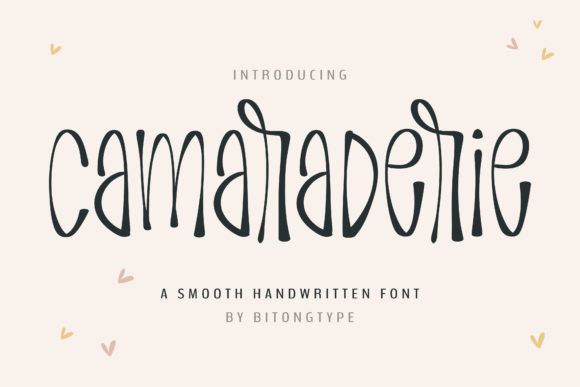 Print on Demand: Camaraderie Script & Handwritten Font By BitongType - Image 1