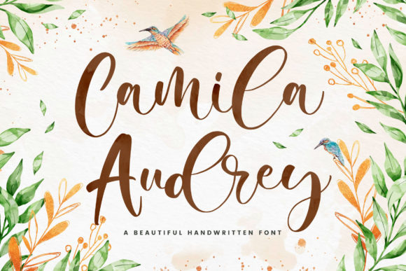 Print on Demand: Camila Audrey Script & Handwritten Font By creakokunstudio