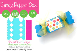 Print on Demand: Candy Popper Treat Box Graphic 3D Pillow Box By rushton_tracy