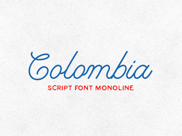 Print on Demand: Colombia Script & Handwritten Font By Makaryo Collective