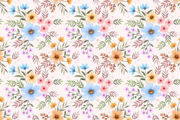 Download Free Colorful Hand Draw With Flowers Pattern Graphic By Ranger262 for Cricut Explore, Silhouette and other cutting machines.