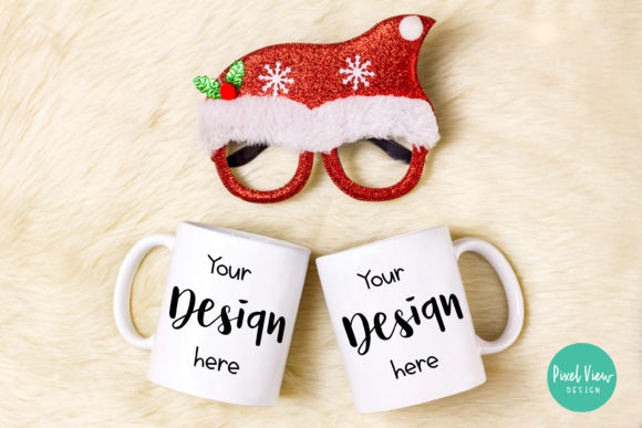 Download Free Couple Coffee Mug Mock Up Christmas Graphic By Pixel View for Cricut Explore, Silhouette and other cutting machines.