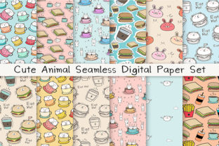 Download Free Cute Animal Seamless Digital Paper Set Graphic By Oneywhystudio for Cricut Explore, Silhouette and other cutting machines.