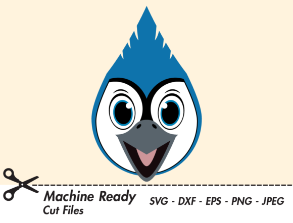 Download Free Cute Boy Blue Jay Face Graphic By Captaincreative Creative Fabrica for Cricut Explore, Silhouette and other cutting machines.