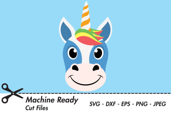 Download Free Cute Boy Unicorn Face Graphic By Captaincreative Creative Fabrica for Cricut Explore, Silhouette and other cutting machines.