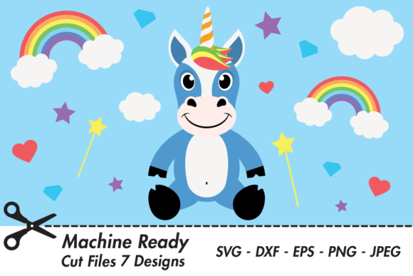 Download Free Cute Boy Unicorn Graphic By Captaincreative Creative Fabrica for Cricut Explore, Silhouette and other cutting machines.