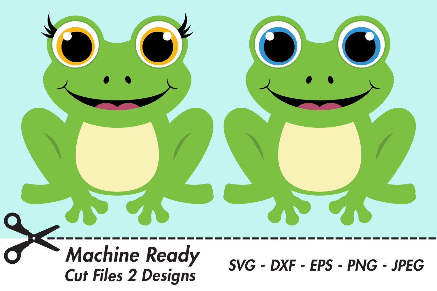Download Free Cute Frogs Graphic By Captaincreative Creative Fabrica for Cricut Explore, Silhouette and other cutting machines.