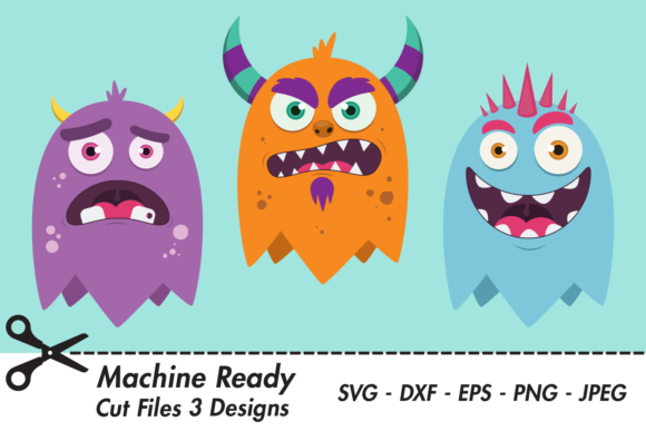 Download Free Cute Monster Party Designs Graphic By Captaincreative Creative SVG Cut Files