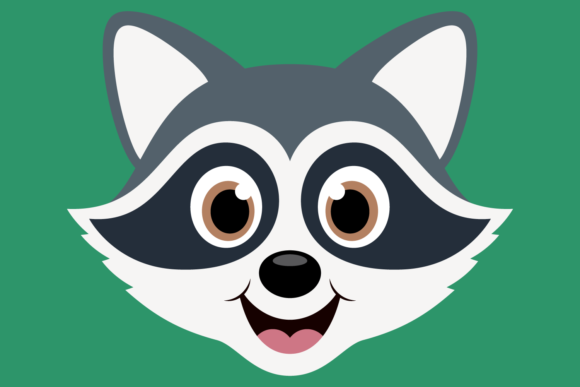 Download Free Cute Raccoon Faces Graphic By Captaincreative Creative Fabrica for Cricut Explore, Silhouette and other cutting machines.