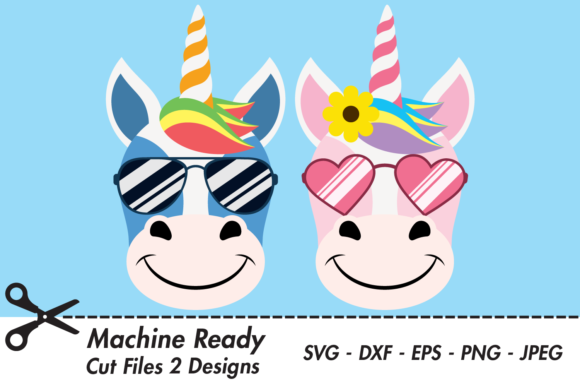 Download Free Cute Girl Unicorn Graphic By Captaincreative Creative Fabrica for Cricut Explore, Silhouette and other cutting machines.