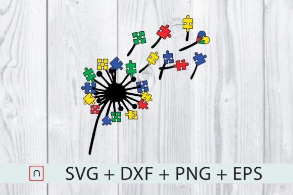 Download Free Dandelions Autism Puzzles Colorful Graphic By Novalia Creative for Cricut Explore, Silhouette and other cutting machines.