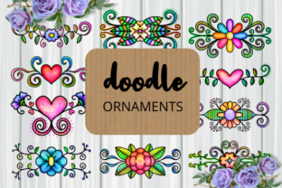 Print on Demand: Doodle Ornamental Folk Art Flourishes Graphic Crafts By Prawny