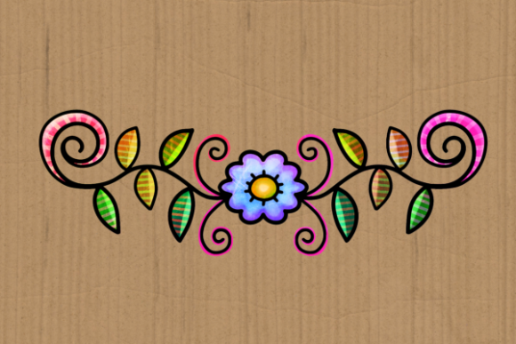 Doodle Ornamental Folk Art Flourishes Graphic Preview