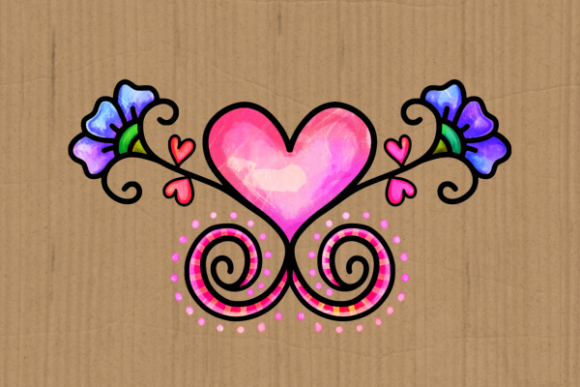 Download Free Doodle Ornamental Folk Art Flourishes Graphic By Prawny for Cricut Explore, Silhouette and other cutting machines.