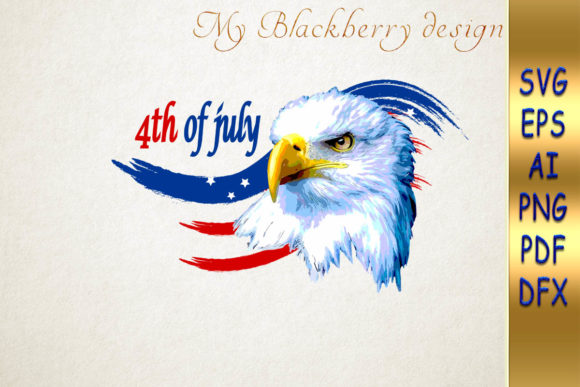 Print on Demand: Eagle American Flag Graphic Crafts By talanpluss
