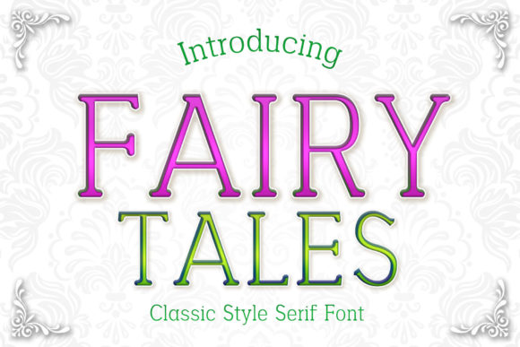 Print on Demand: Fairy Tales Serif Fuente Por numnim