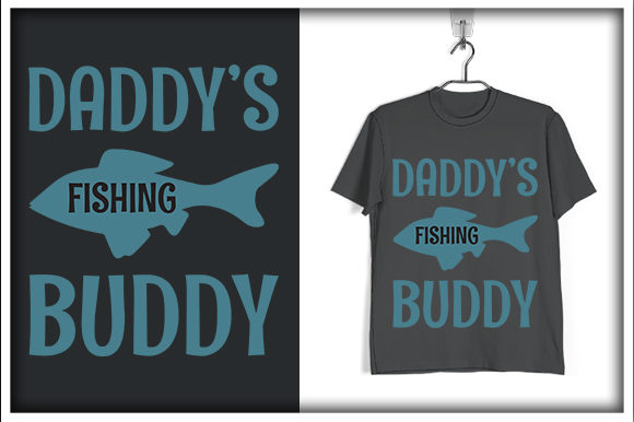 Download Free Fishing T Shirt Design Daddy S Fishing Graphic By Svg Hut for Cricut Explore, Silhouette and other cutting machines.