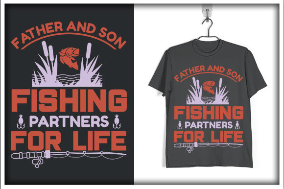 Download Free Fishing T Shirt Design Father And Son Graphic By Svg Hut Creative Fabrica for Cricut Explore, Silhouette and other cutting machines.
