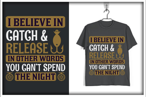 Download Free Fishing T Shirt Design I Believe Graphic By Svg Hut Creative SVG Cut Files