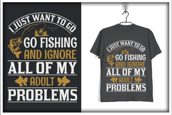 Download Free Fishing T Shirt Design I Just Want To Go Graphic By Svg Hut for Cricut Explore, Silhouette and other cutting machines.