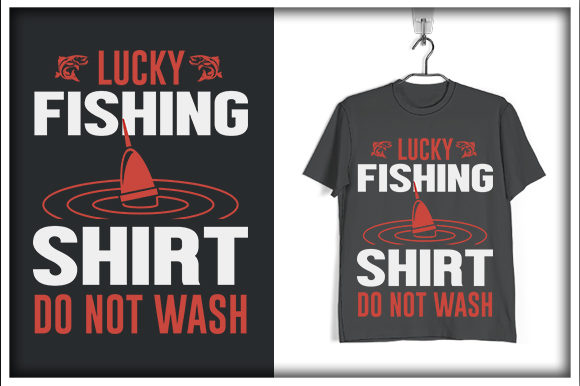 Download Free Fishing T Shirt Design Lucky Fishing Graphic By Svg Hut for Cricut Explore, Silhouette and other cutting machines.
