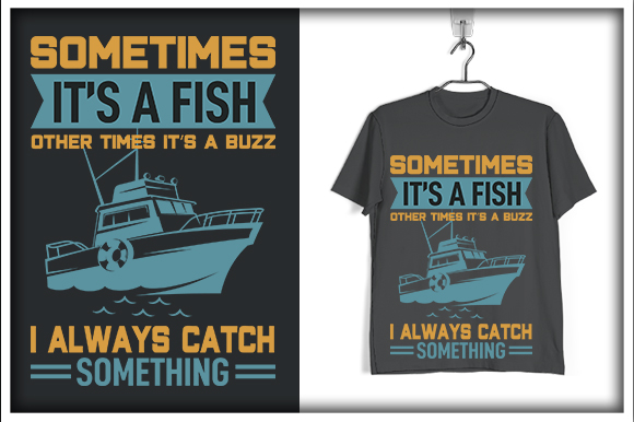 Download Free Fishing T Shirt Design Sometimes It S A Graphic By Svg Hut SVG Cut Files