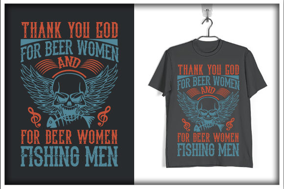 Download Free Fishing T Shirt Design Thank You God Graphic By Svg Hut for Cricut Explore, Silhouette and other cutting machines.