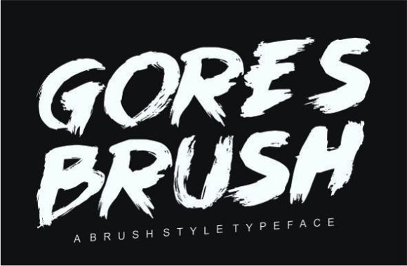Print on Demand: Goresbrush Display Font By emnazar2009