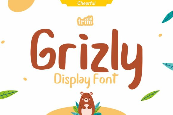 Print on Demand: Grizly Display Font By Trim Studio