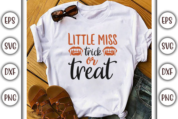 Download Free Halloween Quotes Design Little Miss Graphic By Graphicsbooth for Cricut Explore, Silhouette and other cutting machines.