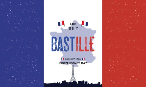 Happy Bastille Day 14th July French Graphic Holidays By DEEMKA STUDIO