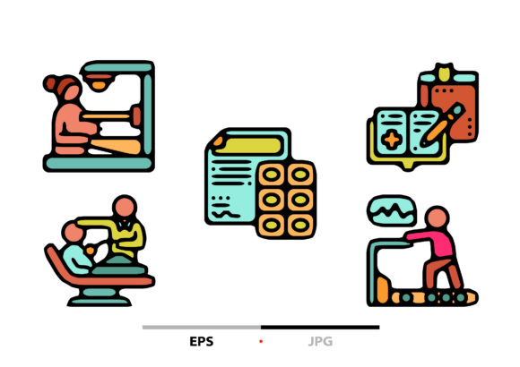 Health Checkups Abstract Graphic Icons By sayangnadyapkm3