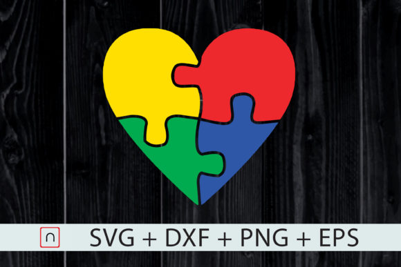Download Free Heart Puzzle Autism Awareness Graphic By Novalia Creative Fabrica for Cricut Explore, Silhouette and other cutting machines.