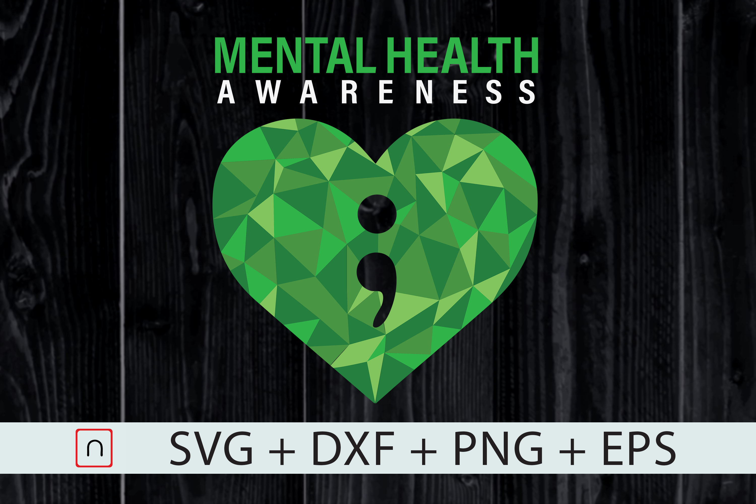 Download Free Heart Semicolon Mental Health Awareness Graphic By Novalia for Cricut Explore, Silhouette and other cutting machines.