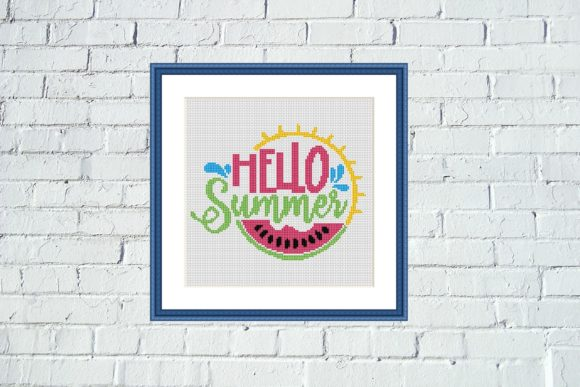 Hello Summer Colorful Cross Stitch Graphic Cross Stitch Patterns By e6702 - Image 2