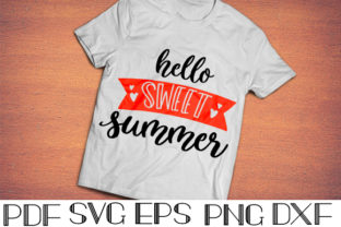 Download Free Hello Sweet Summer Graphic By Designora Creative Fabrica for Cricut Explore, Silhouette and other cutting machines.