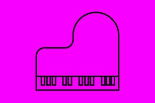 Download Free Icon Piano Art Graphic By Meandmydate Creative Fabrica for Cricut Explore, Silhouette and other cutting machines.