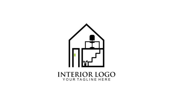 Download Free Interior Room Gallery Furniture Logo Graphic By Deemka Studio for Cricut Explore, Silhouette and other cutting machines.