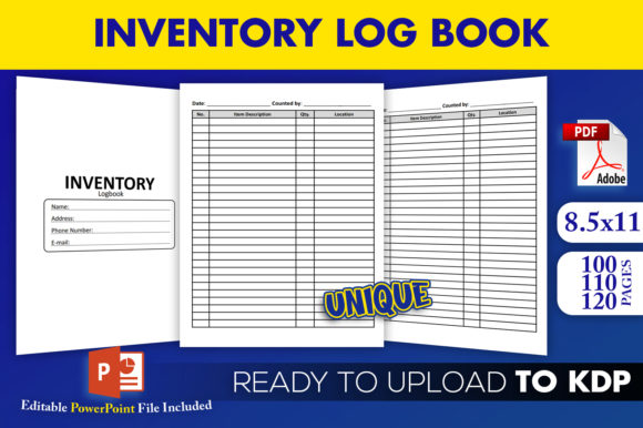 Print on Demand: Inventory Logbook Tracker | KDP Interior Graphic KDP Interiors By Beast Designer