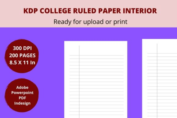 Print on Demand: KDP College Ruled Paper Graphic KDP Interiors By Creative arts